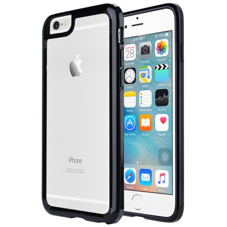 iPhone 6s & 6 Case, ULAK [CLEAR SLIM] Transparent Case with Hard Clear Back Panel for Apple iPhone 6 & 6s (4.7 Inch)