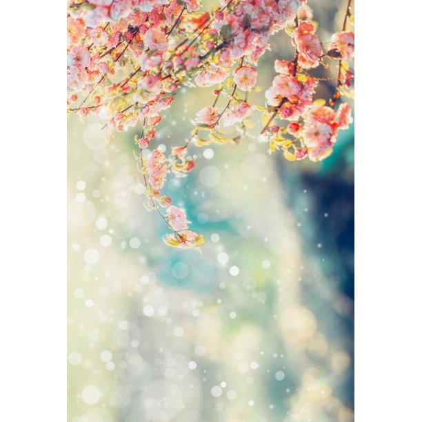 Bokeh Flowers Wedding: HelloDecor Polyster Wedding Blooming Background For Photo
