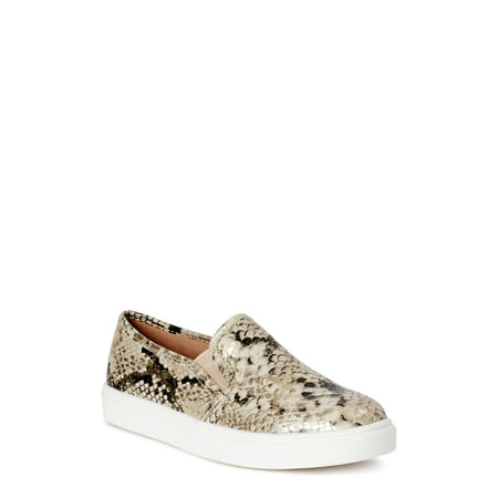 Time and Tru Snake Twin Gore Slip On (Womens) (Wide Width Available)