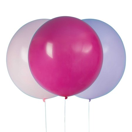Big Latex Balloons, 24 in, Pink & Purple, 3ct - Big Baloons