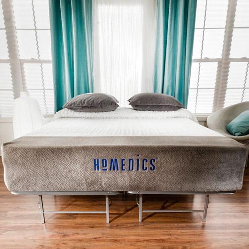 HoMedics Renew 12 Gel Memory Foam Mattress and Bed Frame Set