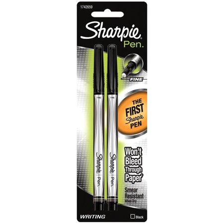 Sharpie® Fine Pen Set of 2, Black