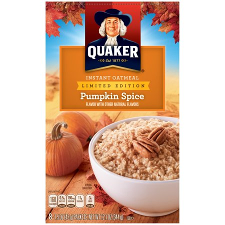 Quaker Instant Oatmeal, Pumpkin Spice Oatmeal, 8 Packets