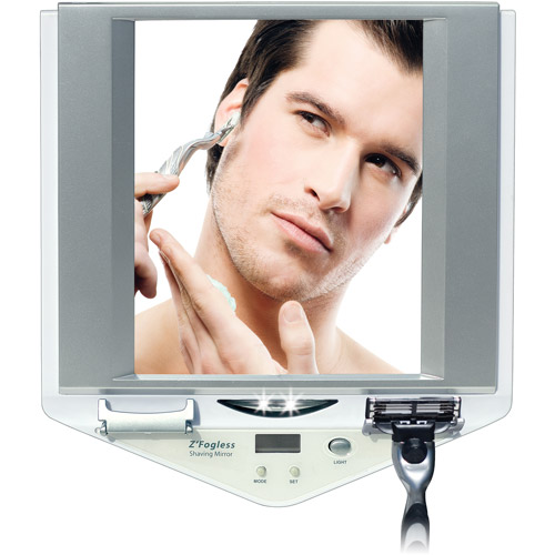 Z700W Led Lighted fog-free shower mirror w/LCD clock