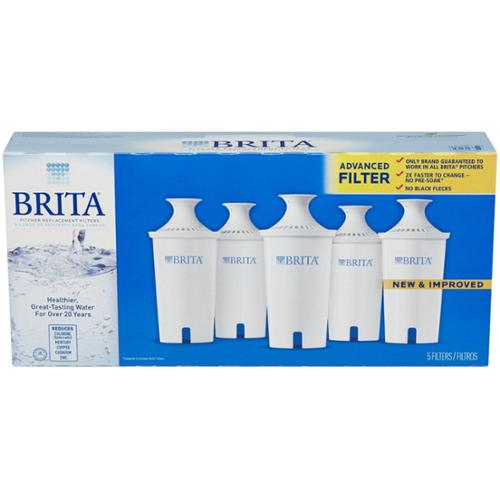 Brita Water Filter Pitcher Advanced Replacement Filters 5 ea (Pack of 2)