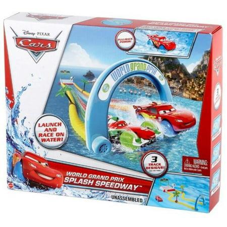 Disney Cars World Grand Prix Splash Speedway Track Play Set - Walmart.com