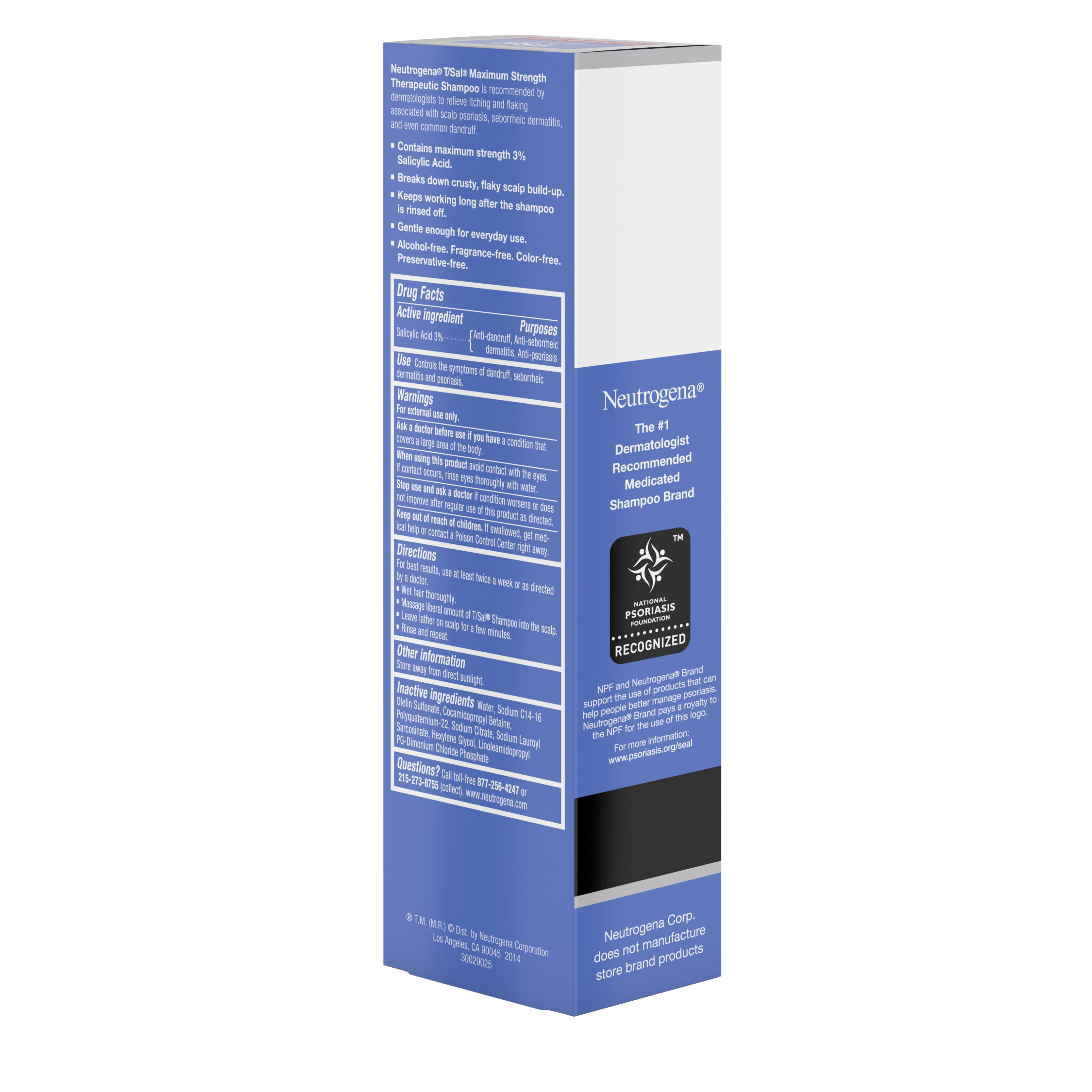 Neutrogena T Sal Therapeutic Shampoo With Scalp Build Up Control 3 Salicylic Acid 4 5 Fl Oz Walmart Com Walmart Com