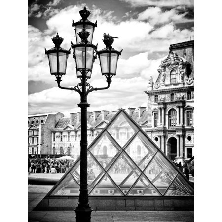 View of the Pyramid and the Louvre Museum Building, Paris, France, Europe Print Wall Art By Philippe
