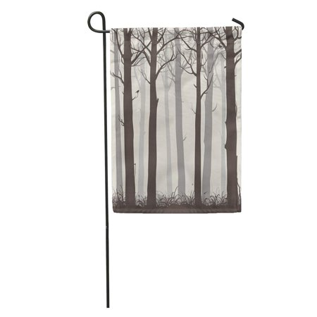 KDAGR Green Deer Natural Silhouettes of Bare Trees and Birds Forest Nature Garden Flag Decorative Flag House Banner 12x18 inch - Bare Tree Silhouette Halloween