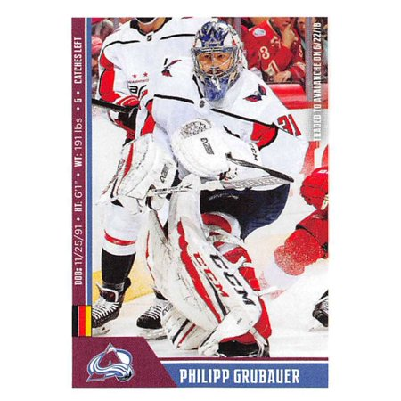 2018-19 Panini NHL Stickers #336 Philipp Grubauer Colorado Avalanche Hockey Card ()