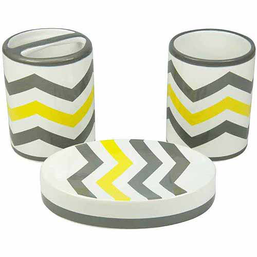Mainstays Chevron Toothbrush Holder, Yellow