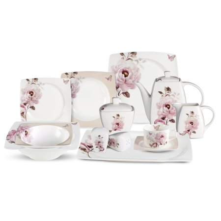 Lorren Home Trend S 57 Piece Sophie Bone China Dinnerware Set  Service For 8