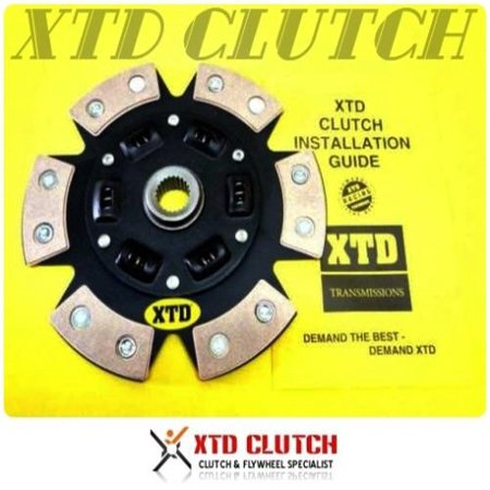 XTD 6 PUCK STAGE 3 CERAMIC CLUTCH DISC VW 2.8L VR6 GOLF PASSAT JETTA CORRADO