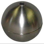 NAUGATUCK GRT90S418C Float Ball,Round,SS,9 In