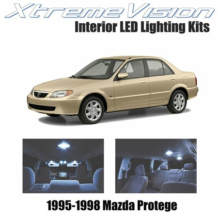 XtremeVision LED for Mazda Protege 1995-1998 (5 Pieces) Cool White Premium Interior LED Kit Package + Installation Tool