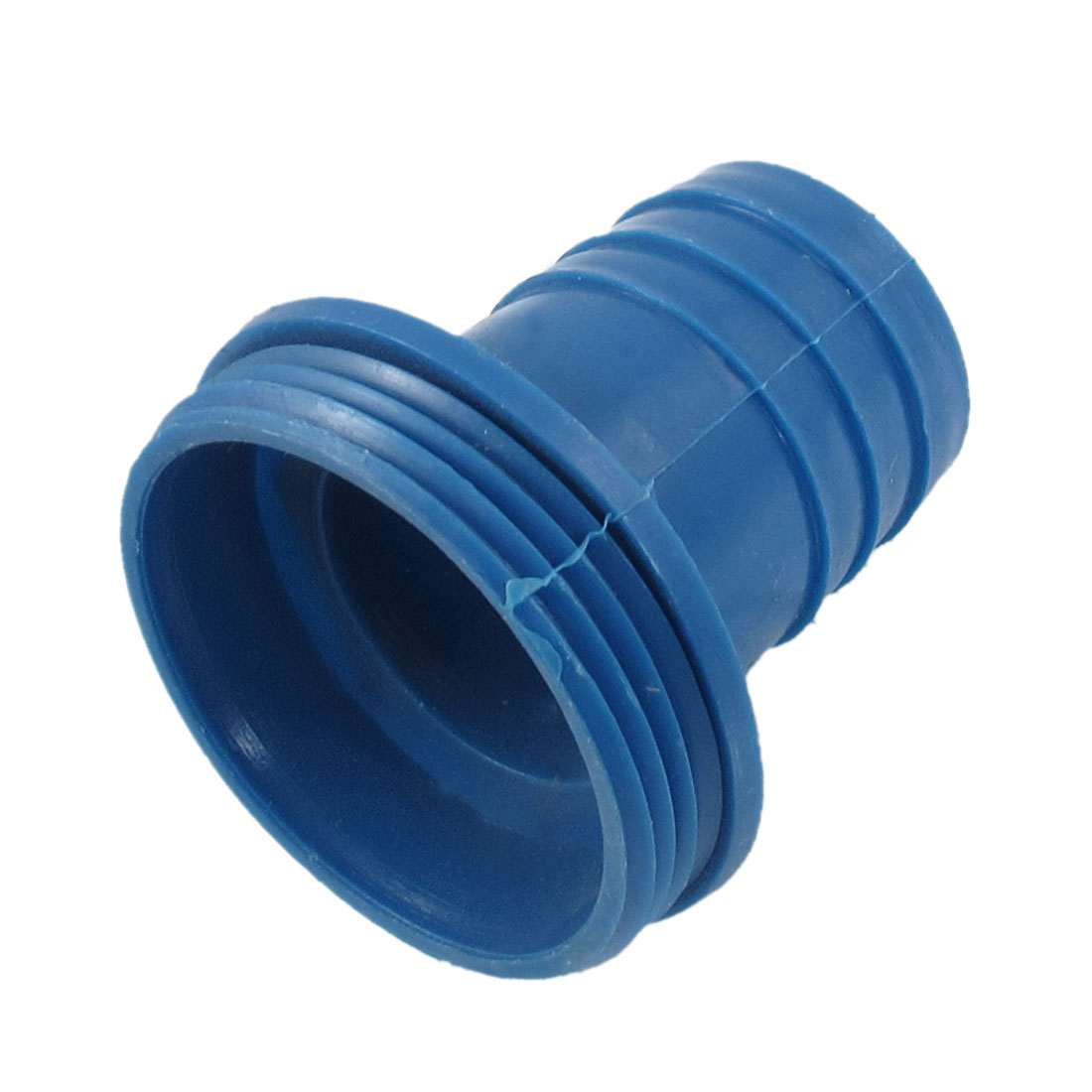 Unique Bargains 56mm Male Thread Blue Plastic Straight Bard Hose Connector for 36mm Tube