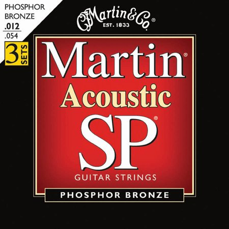 Martin Sp Series Phosphor Bronze Light Gauge Acoustic Strings - 3 - 3 Pack Acoustic Guitar Strings