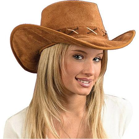 Suede Look Adult Halloween Cowboy Hat