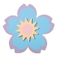 1 Pc, Painted Large Flower Wood Cutout 5