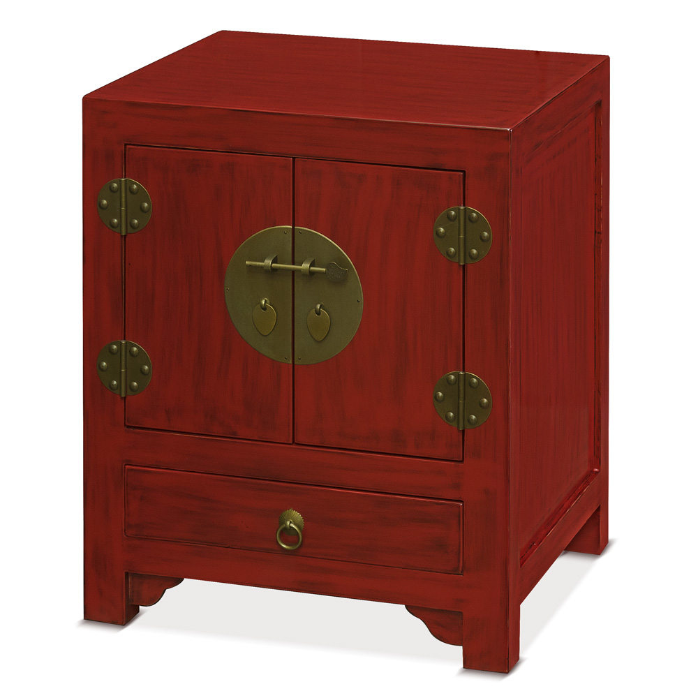 China Furniture and Arts Asian Style Nightstand End Table Cabinet