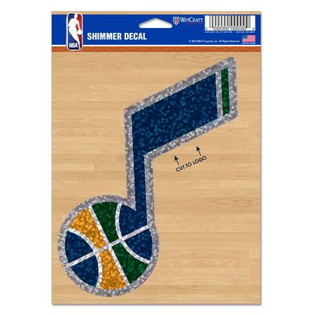 "Utah Jazz WinCraft 5"" x 7"" Shimmer Decal - No Size"