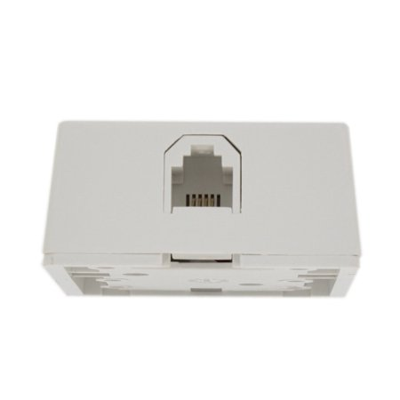 4625A-24W Type 625A2 Surface Mount Jack, 6P4C, Screw Terminal, White, Round inserts available with screw terminal or 110 terminations By Leviton