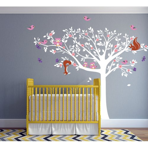 Pop Decors Floral Tree Wall Decal
