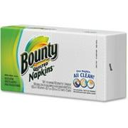 "Bounty Everyday Napkins - 1 Ply - 100 / Carton - 12"" X 12.10"" - White (34884ct)"