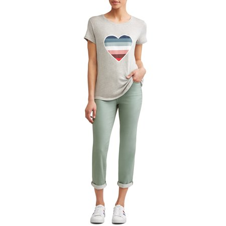 Ombre Heart Short Sleeve T-Shirt Women's