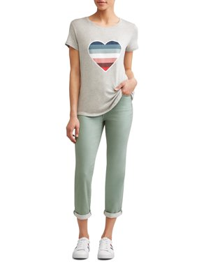 04abadefc966d4 Product Image Ombre Heart Short Sleeve T-Shirt Women's