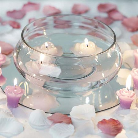 Efavormart Clear Floating Candle Glass Vase Bowls For Wedding Party Birthday Centerpieces Home Decorations Supplies