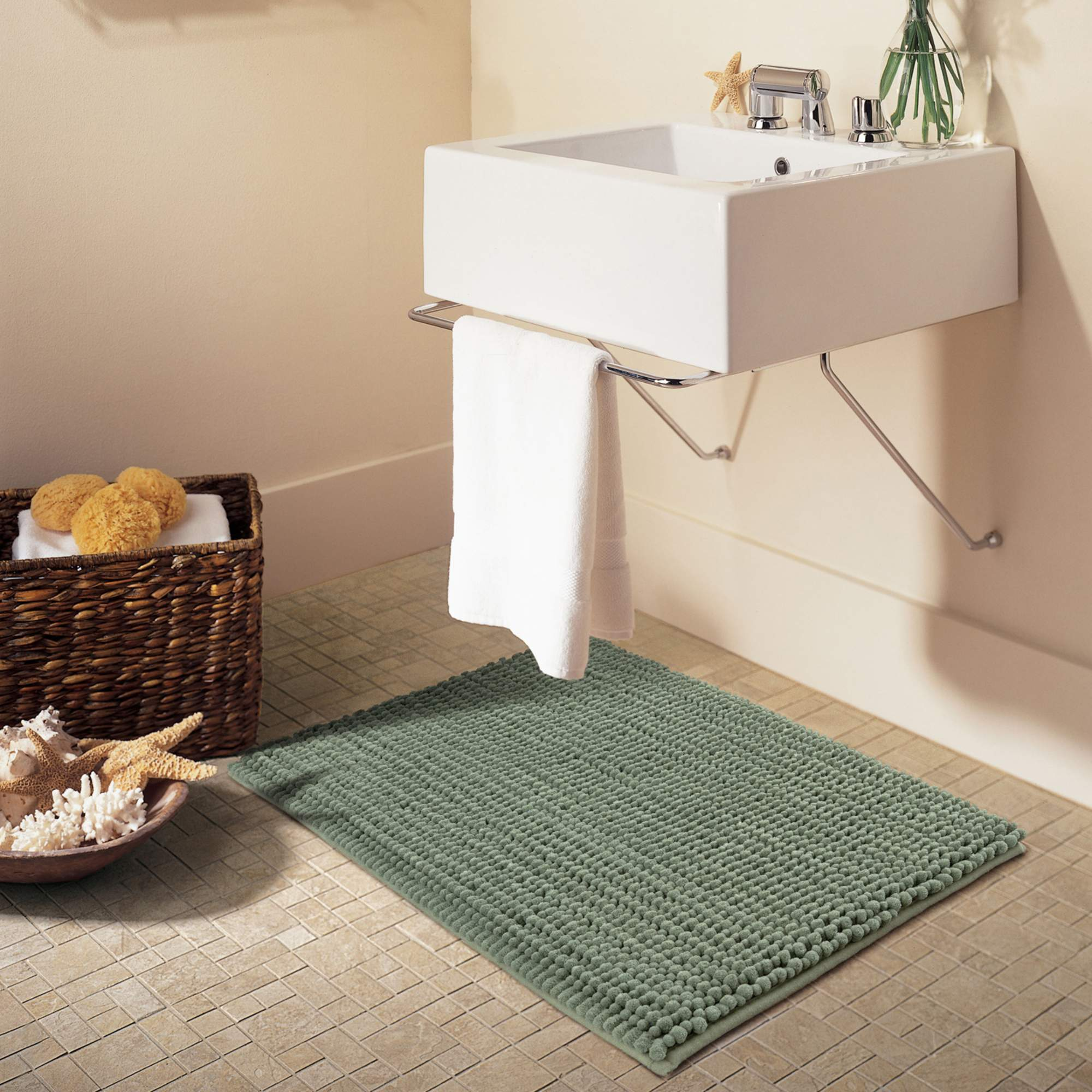 "Better Homes & Gardens Noodle Memory Foam Bath Rug, 20"" x 34"", Terrance Green"