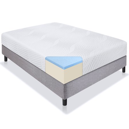 Best Choice Products 10in Twin Size Dual Layered Gel Memory Foam Mattress w/ CertiPUR-US Certified Foam