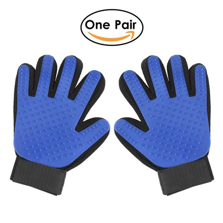 Gripsoft Grooming Tools Rubber - Pet Grooming Glove, 2-in-1 Hair Remover Mitt Gentle Deshedding Brush and Massage Tool for Dog, Cat, Horses with Long Short Fur(One Pair)