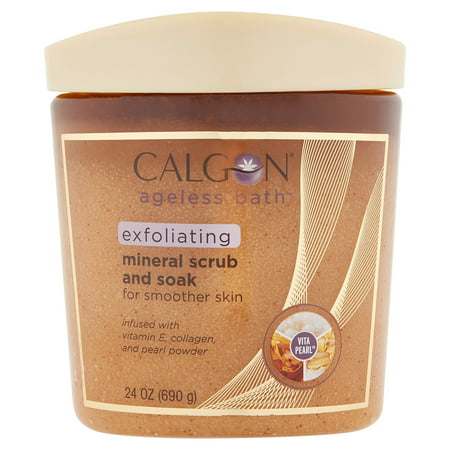 Sea Minerals Foot Scrub - Calgon Mineral Scrub and Soak, 24 oz