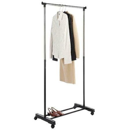 Heavy Gauge Steel Book Rack (Heavy Duty Garment Rack Commercial Grade Adjustable Clothing Rack Supreme Rolling Rack Steel Adjustable Clothes Rack, Chrome )