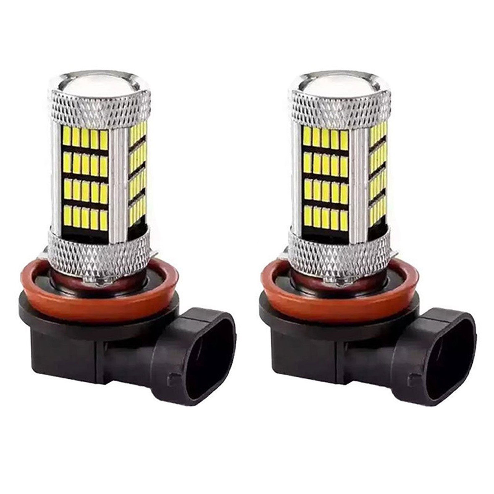 2-pack H11 H8 LED Headlight Bulbs Conversion Kit, 92 LED Bulb 4014-SMD for Car Truck Fog Lights Lamp, 6000K Xenon White