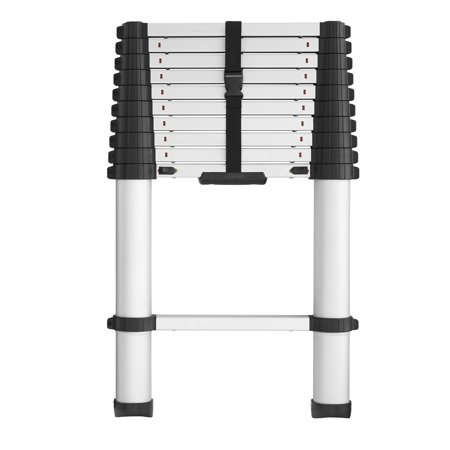 COSCO SmartClose Telescoping Aluminum Ladder with Pinch-Free, Soft-Close Locking Mechanism (300-Pound Capacity, 14-foot Max Reach)