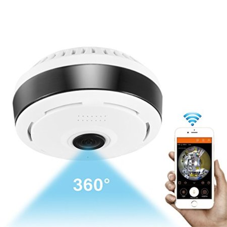 360 Degree Panoramic Camera Wifi Indoor IP Camera Wireless Fisheye Biy Monitor with Night Vision 2-way-audio for Kids & Pets Home Security Camera System with iOS/Android App for Large Area (Configuration System Failed To Initialize App Config C#)