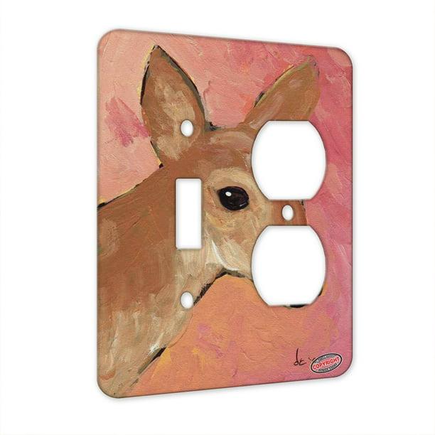 Kuzmark 2 Gang Single Toggle Single Duplex Wall Plate Whitetail Deer Doe Wildlife Art By Denise Every Walmart Com Walmart Com