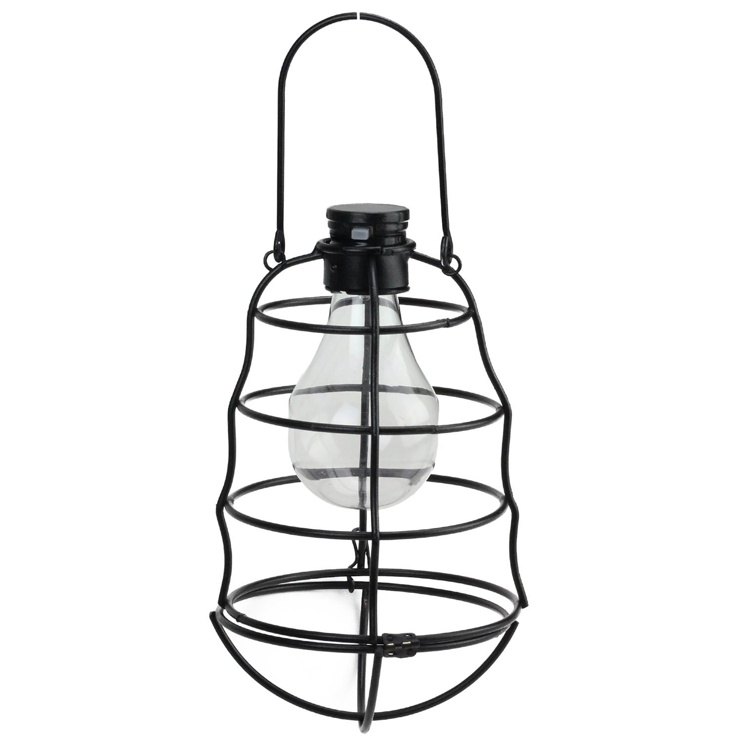 solar powered decorative lanterns 7 75 quot black rippled solar powered led decorative outdoor 5594