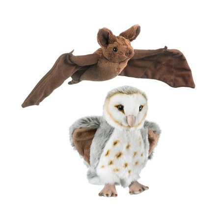 Stuffed Animals and Super Soft Plush Wildlife Artists Mexican Free Tailed Bat Super Soft Plush and Wild Life Artist Conservation Critters Barn Owl Plush ()