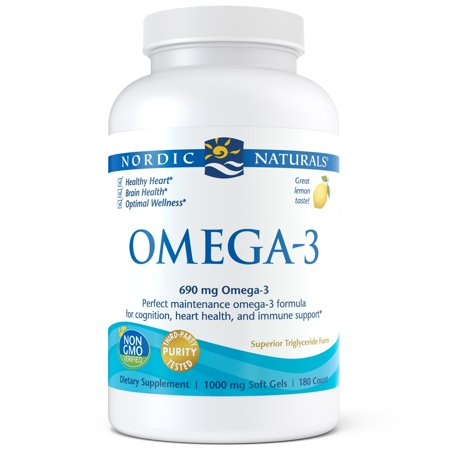 Nordic Naturals Omega-3 Softgels, 690 Mg, 180 Ct