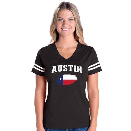 Austin Powers Women (Austin Texas Women's Football V-Neck Fine Jersey)