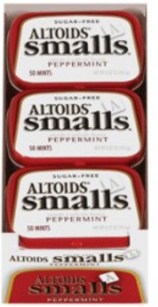 Altoids Smalls Sugar Free Peppermint Mints 9 packs (0.37 oz per pack) (Pack of 2) by