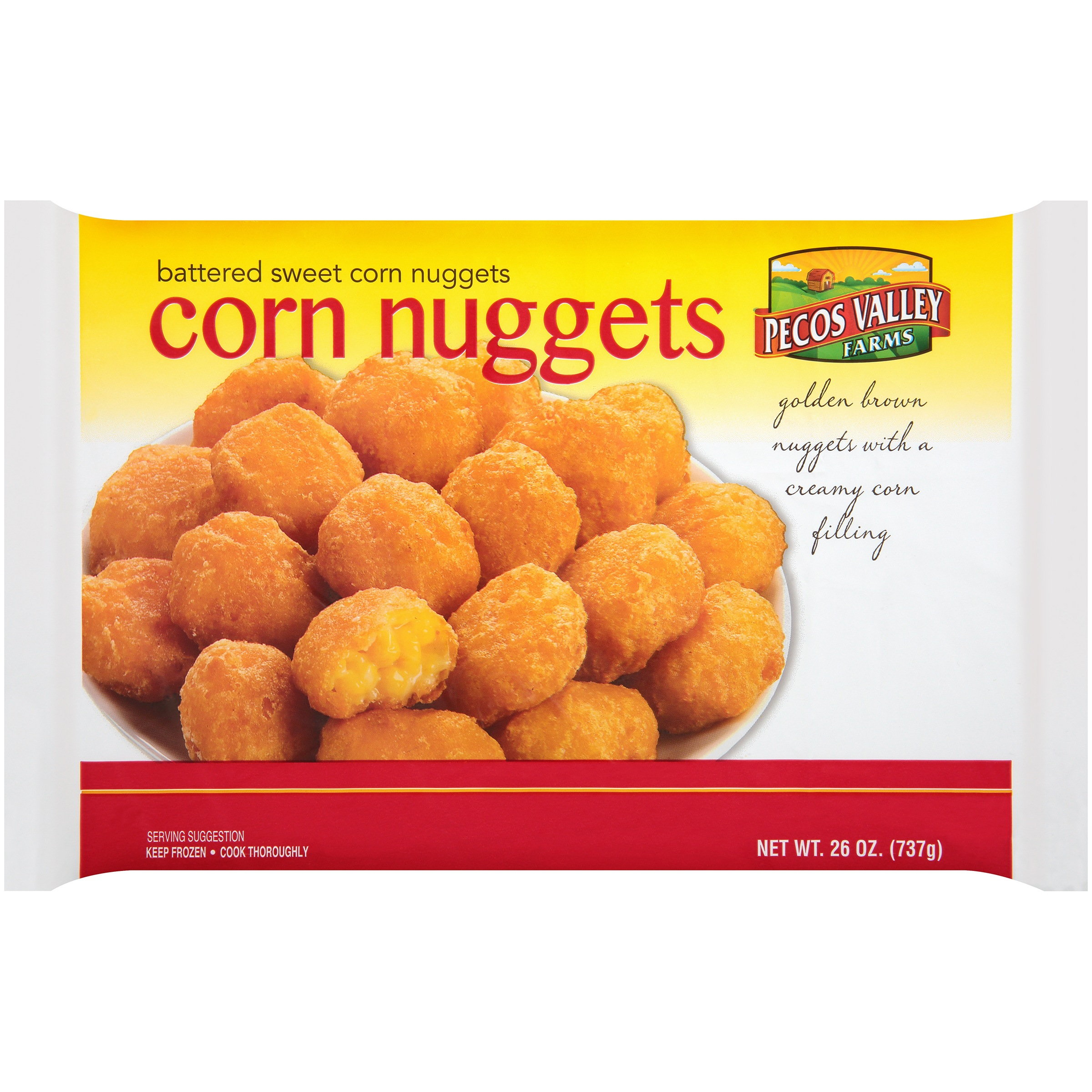Pecos Valley Farms Battered Sweet Corn Nuggets 26 oz  Bag