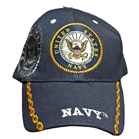 e3882aa9 Buy Caps and Hats U.S. Navy Veteran Baseball Cap Vet Military Mens One Size  (Navy Blue with Chains Shad)