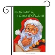 "I Can Explain Santa Christmas Garden Flag Holiday Yard Banner 12"" x 18"""