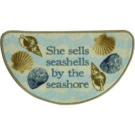 Bacova Sea Shells Slice Accent Rug One Size