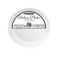 "1 - Party Essentials 7.5"" Deluxe Salad Plates - White 70 Ct."
